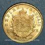 Monnaies 2e empire (1852-1870). 20 francs tête laurée 1865A. (PTL 900 /1000. 6,45 g)