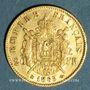 Monnaies 2e empire (1852-1870). 20 francs tête laurée 1865BB. Strasbourg. 900 /1000. 6,45 gr