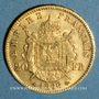 Monnaies 2e empire (1852-1870). 20 francs tête laurée 1866A. 900 /1000. 6,45 gr