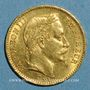 Monnaies 2e empire (1852-1870). 20 francs tête laurée 1866BB. Strasbourg. (PTL900 /1000. 6,45 gr)