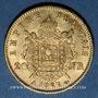 Monnaies 2e empire (1852-1870). 20 francs tête laurée 1867A. 900 /1000. 6,45 gr