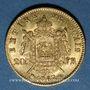 Monnaies 2e empire (1852-1870). 20 francs tête laurée 1867BB. Strasbourg. Grand BB. 900 /1000. 6,45 gr