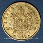 Monnaies 2e empire (1852-1870). 20 francs tête laurée 1868BB. Strasbourg. 900 /1000. 6,45 gr