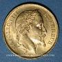Monnaies 2e empire (1852-1870). 20 francs tête laurée 1869A. 900 /1000. 6,45 gr