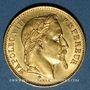 Monnaies 2e empire (1852-1870). 20 francs tête laurée 1869BB. Strasbourg. Petit BB. 900 /1000. 6,45 gr