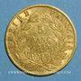 Monnaies 2e empire (1852-1870). 5 francs tête nue 1859BB. Strasbourg. (PTL 900 /1000. 1,612 gr)