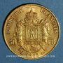 Monnaies 2e empire (1852-1870). 50 francs Napoléon III tête laurée 1865 A. (PTL 900‰. 16,12 g)