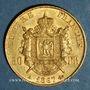Monnaies 2e empire (1852-1870). 50 francs, Napoléon III, tête laurée 1867A. 900 /1000. 16,12 gr