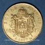 Monnaies 2e empire (1852-1870). 50 francs, Napoléon III, tête nue 1857A. 900 /1000. 16,12 gr