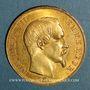 Monnaies 2e empire (1852-1870). 50 francs Napoléon III tête nue 1857A. (PTL 900 /1000. 16,12 gr)