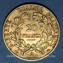 Monnaies 2e république (1848-1852). 20 francs Cérès 1850A, oreille relevée. 900 /1000. 6,45 gr