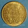 Monnaies 2e république (1848-1852). 20 francs Cérès 1851 A. (PTL 900‰. 6,45 g)