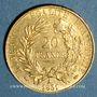 Monnaies 2e république (1848-1852). 20 francs Cérès 1851A. 900 /1000. 6,45 gr