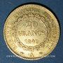Monnaies 2e république (1848-1852). 20 francs Génie 1849A. 900 /1000. 6,45 gr