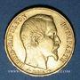 Monnaies 2e république (1848-1852). 20 francs Louis Bonaparte 1852A. 900 /1000. 6,45 g