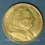Monnaies 2e restauration. Louis XVIII (1815-1824). 20 francs buste habillé 1815A. 900 /1000. 6,45 gr