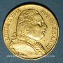 Monnaies 2e restauration. Louis XVIII (1815-1824). 20 francs buste habillé 1815W. Lille. 900 /1000. 6,45 gr