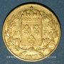 Monnaies 2e restauration. Louis XVIII (1815-1824). 20 francs buste nu 1817W. Lille. 900 /1000. 6,45 gr