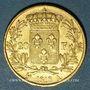Monnaies 2e restauration. Louis XVIII (1815-1824). 20 francs buste nu 1818A .900 /1000. 6,45 gr