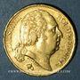 Monnaies 2e restauration. Louis XVIII (1815-1824). 20 francs buste nu 1818A. 900 /1000. 6,45 gr