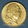 Monnaies 2e restauration. Louis XVIII (1815-1824). 20 francs buste nu 1819A. 900 /1000. 6,45 gr