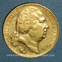 Monnaies 2e restauration. Louis XVIII (1815-1824). 20 francs buste nu 1820A. (PTL 900 /1000. 6,45 g)