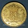 Monnaies 2e restauration. Louis XVIII (1815-1824). 40 francs buste nu 1816Q. Perpignan. 900 /1000. 12,90 g