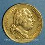 Monnaies 2e restauration. Louis XVIII (1815-1824). 40 francs buste nu 1818W. Lille. (PTL 900 /1000. 12,90 gr)