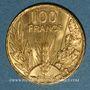 Monnaies 3e république (1870-1940). 100 francs Bazor 1935 (PTL 900/1000. 6,55 g)