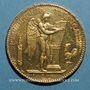 Monnaies 3e république (1870-1940). 100 francs Génie 1879A. Ancre simple. 900 /1000. 32,25 gr