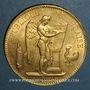 Monnaies 3e république (1870-1940). 100 francs Génie 1882A. (PTL 900/1000. 32,25 g)