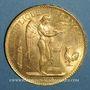 Monnaies 3e république (1870-1940). 100 francs Génie 1886A. (PTL 900 /1000. 32,25 g)