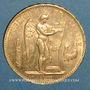 Monnaies 3e république (1870-1940). 100 francs Génie 1907A. (PTL 900 /1000. 32,25 g)