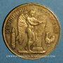 Monnaies 3e république (1870-1940). 100 francs Génie 1908A. (PTL 900/1000. 32,25 g)