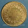 Monnaies 3e république (1870-1940). 100 francs Génie 1911A. (PTL 900/1000. 32,25 g)