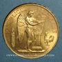 Monnaies 3e république (1870-1940). 100 francs Génie 1912A. (PTL 900/1000. 32,25 g)
