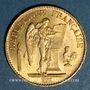 Monnaies 3e république (1870-1940). 20 francs Génie 1887A. 900 /1000. 6,45 gr