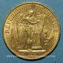 Monnaies 3e république (1870-1940). 20 francs Génie 1893 A. (PTL 900‰. 6,45 g)