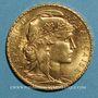 Monnaies 3e république (1870-1940). 20 francs Marianne 1910. (PTL 900 /1000. 6,45 gr)
