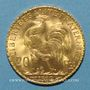 Monnaies 3e république (1870-1940). 20 francs Marianne 1912. (PTL 900 /1000. 6,45 gr)