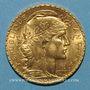 Monnaies 3e république (1870-1940). 20 francs Marianne 1913. (PTL 900 /1000. 6,45 gr)