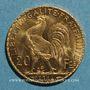 Monnaies 3e république (1870-1940). 20 francs Marianne 1914. (PTL 900 /1000. 6,45 g)