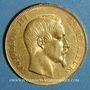Monnaies 50 francs Napoléon III tête nue 1857 A. (PTL 900‰. 16,12 g)