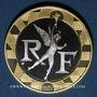 Monnaies 5e république. 10 francs 1988 Génie de la Bastille. Or jaune 920/1000. Or blanc 750/1000. 12 g.