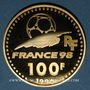Monnaies 5e république (1959 -). 100 francs 1996 Coupe du Monde de Football, 1998. 920 /1000. 17 g