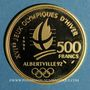 Monnaies 5e république (1959- ). 500 francs 1991. BE. Pierre de Coubertin. (PTL 920‰. 17 g)