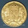 Monnaies Charles X (1824-1830). 20 francs 1825W. Lille. (PTL 900/1000. 6,45 g)