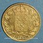 Monnaies Charles X (1824-1830). 20 francs 1827A. (PTL 900/1000. 6,45 g)