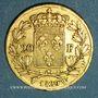 Monnaies Charles X (1824-1830). 20 francs 1829 W. Lille. (PTL 900‰. 6,45 g). 5 496 ex.!