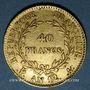 Monnaies Consulat (1799-1804). 40 francs an 12A. (PTL 900‰. 12,90 g)